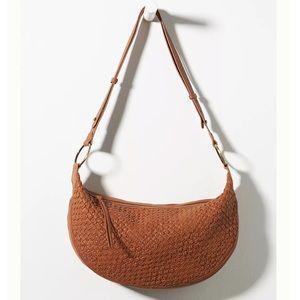 🆕WT! Anthropologie Crescent Leather Shoulder Bag